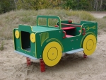 Wippe Federwippe Auto Jeep